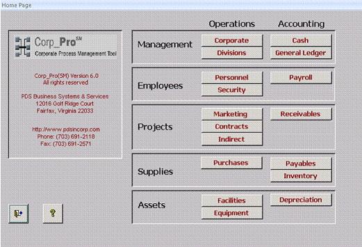 Manager Interface for government contracting software